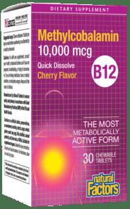 Natural Factors B12 Methylcobalamin 10,000 Mg Chewable 30 Tab