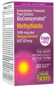 Natural Factors BioCoenzymated Methylfolate 1000mcg Plus Quick Melt Tab 60