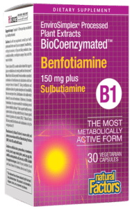 Natural Factors BioCoenzymated Benfotiamine 150 Mg Vcap 30