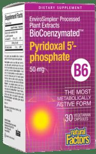 Natural Factors BioCoenzymated P5P 50mg Vcap 30