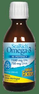 Natural Factors SeaRich Omega Lemon Mer 6.76oz