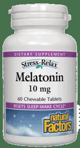 Natural Factors S-R Melatonin 10mg Tab 60