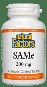 Natural Factors SAMe 200mg Tab 30