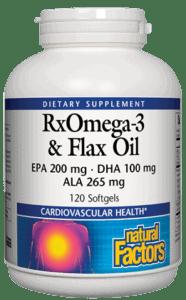 Natural Factors RXOmega3 Fish EPO Flax SG 120