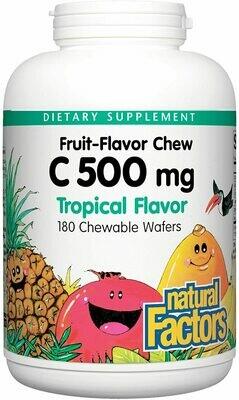 Natural Factors Vitamin C 500mg Tropical Chew Tab 180