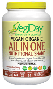 Natural Factors VegiDay Organic ALL-ONE Chocolate 15.9oz
