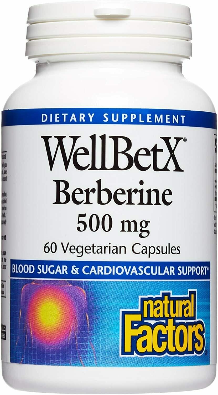 Natural Factors WellBetXBerberine 500 Mg Vcap 60