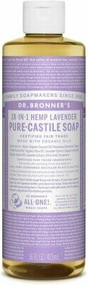 Dr. Bronner's 18-in-1 Hemp Lavender Pure Castile Soap 16oz