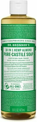 Dr. Bronner's 18-in-1 Hemp Almond Pure Castile Soap 16oz