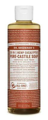 Dr. Bronner's 18-in-1 Hemp Eucalyptus Pure Castile Soap 8oz