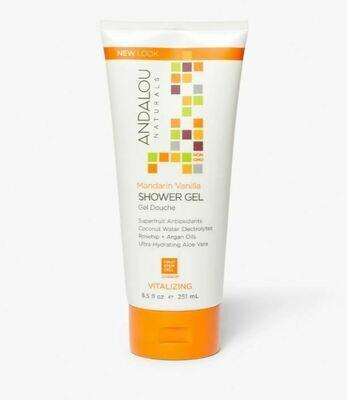Andalou Shower Gel Mandarin Vanilla 8.5 oz
