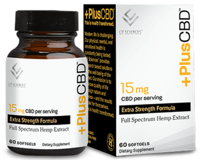 CVScience Plus CBD Gold 15mg 60sgel