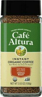 Cafe Altura Freeze Dried Medium Roast 3.53oz