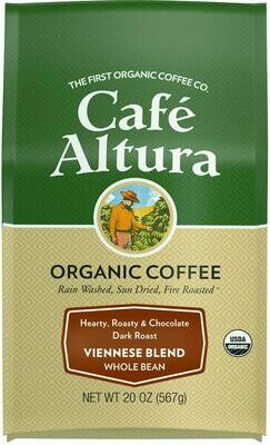 Cafe Altura Whole Bean Viennese Medium Blend