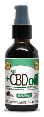 CBD Plus Green Xtra Strength 3mg Spray Mocha 2oz