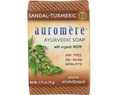 Auromere Soap Sandal Turmeric 2.75oz