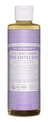 Dr. Bronners Lavender Liquid Soap 8 Fl Oz