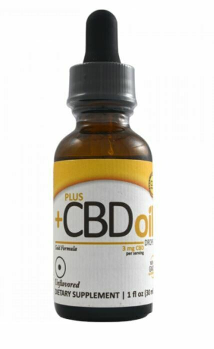 CBD Plus Gold 3mg Unflavored 1oz