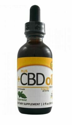 CVScience Plus CBD Gold Xtra Strength 5mg Peppermint 2oz