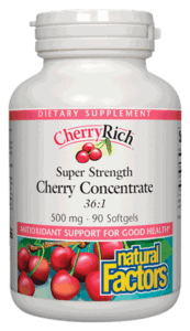 Natural Factors Cherry Rich Concentrate 500mg 90sgel