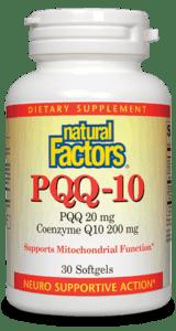 Natural Factors PQQ-10 CoQ10 60SGEL