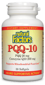 Natural Factors PQQ-10 CoQ10 60SGEL