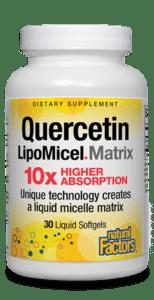 Natural Factors Quercetin LipoMicel Matrix 60 Liquid Gels