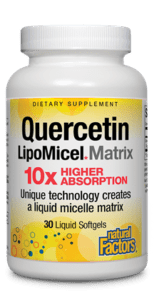 Natural Factors Quercetin LipoMicel Matrix 60 Liquid Gels