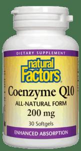 Natural Factors Coenzyme Q10 200mg 60 Softgels
