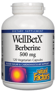 Natural Factors Berberine WellBetX 500mg