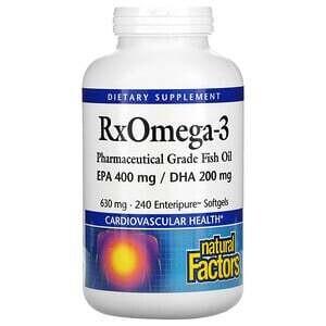 Natural Factors RxOmega-3 630 Mg 240 Softgels