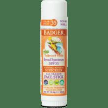 Badger Kids Sunscreen FACE Stick Spf 35 .65oz Tangerine &Vanilla