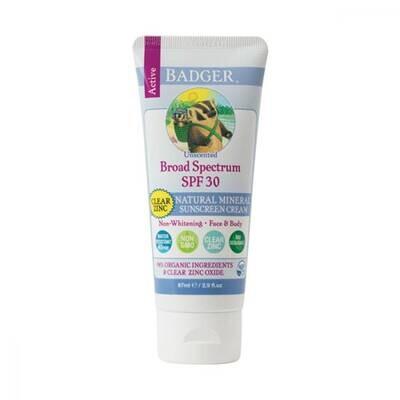 Badger Unscented Sunscreen 30spf 2.9oz