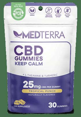 Medterra Calm Gummies 25 Mg Tropical Punch