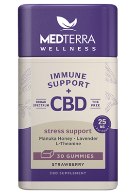 Medterra Immune Support Stress Support Gummies 30 Count