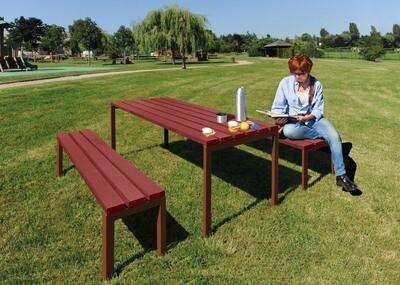 Silaos picnic table with 2 separate benches (Silaos collection)