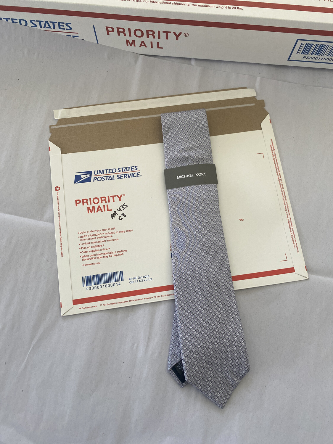 Michael Kors Necktie Silver And Purple New With Tags Free Shipping A #435 Best Offer original Retail $69.50