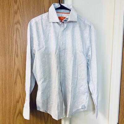 #320 Tallia Paisley Sport Long Sleeve Dress Shirt Men's Medium 97% Cotton Made in Vietnam