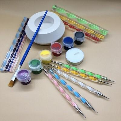 Dot Mandala Stone or Tea Light Holder Painting Kit