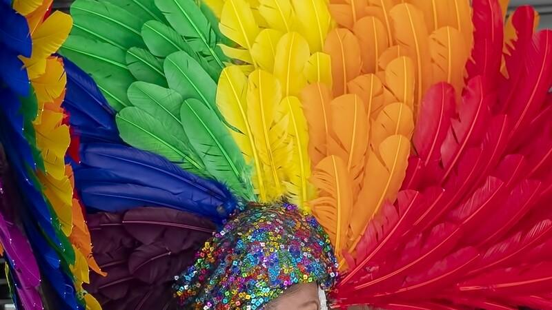Feathered Head-dress, Gay Parade, New York 0787