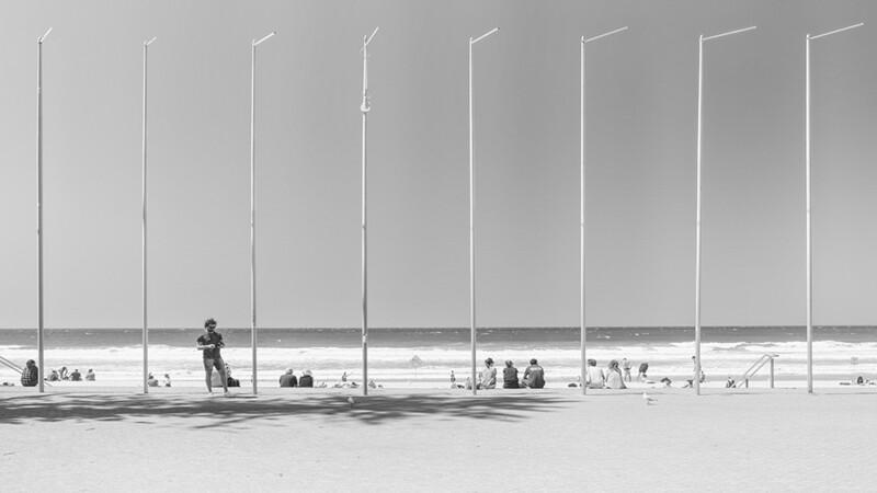 Flag Poles at Manly Beach, Australia 0767