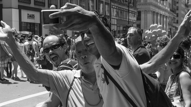 Selfies at the Gay Pride Parade New York.