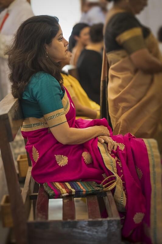 Lady at a Goan Church Wedding 6111