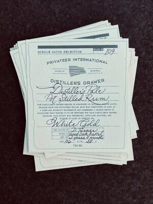 Privateer Distiller's Pale Pot Still Rum