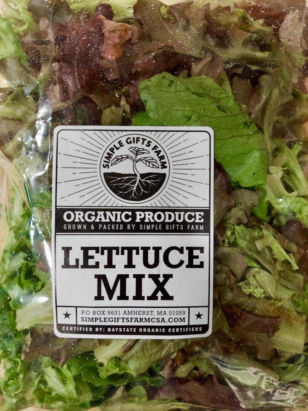 **Simple Gifts Farm BAGGED LETTUCE MIX
