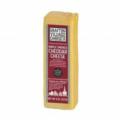 Grafton Village MAPLE SMOKED Cheddar Cheese 8oz.