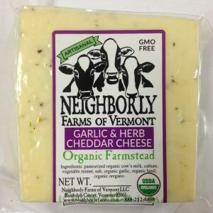 Neighborly Farms GARLIC & HERB Cheddar Cheese