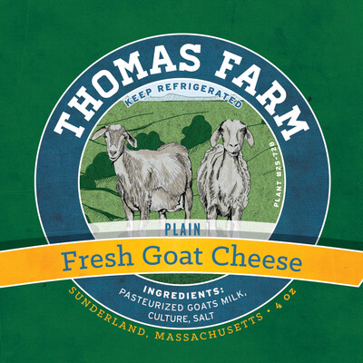 Thomas Farm PLAIN Fresh Goat Cheese 8 oz.