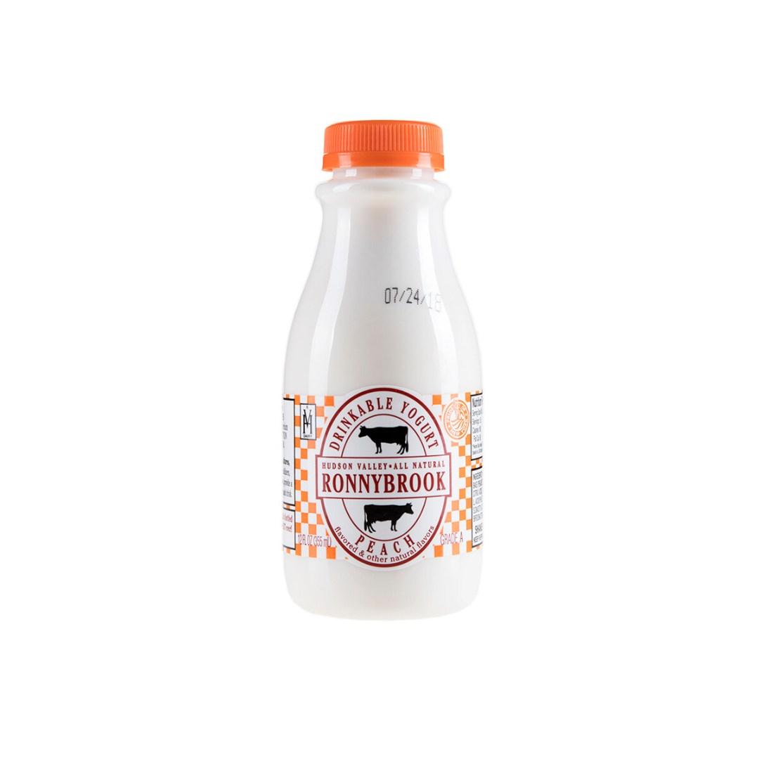 Ronnybrook Drinkable Yogurt PEACH (12 oz)