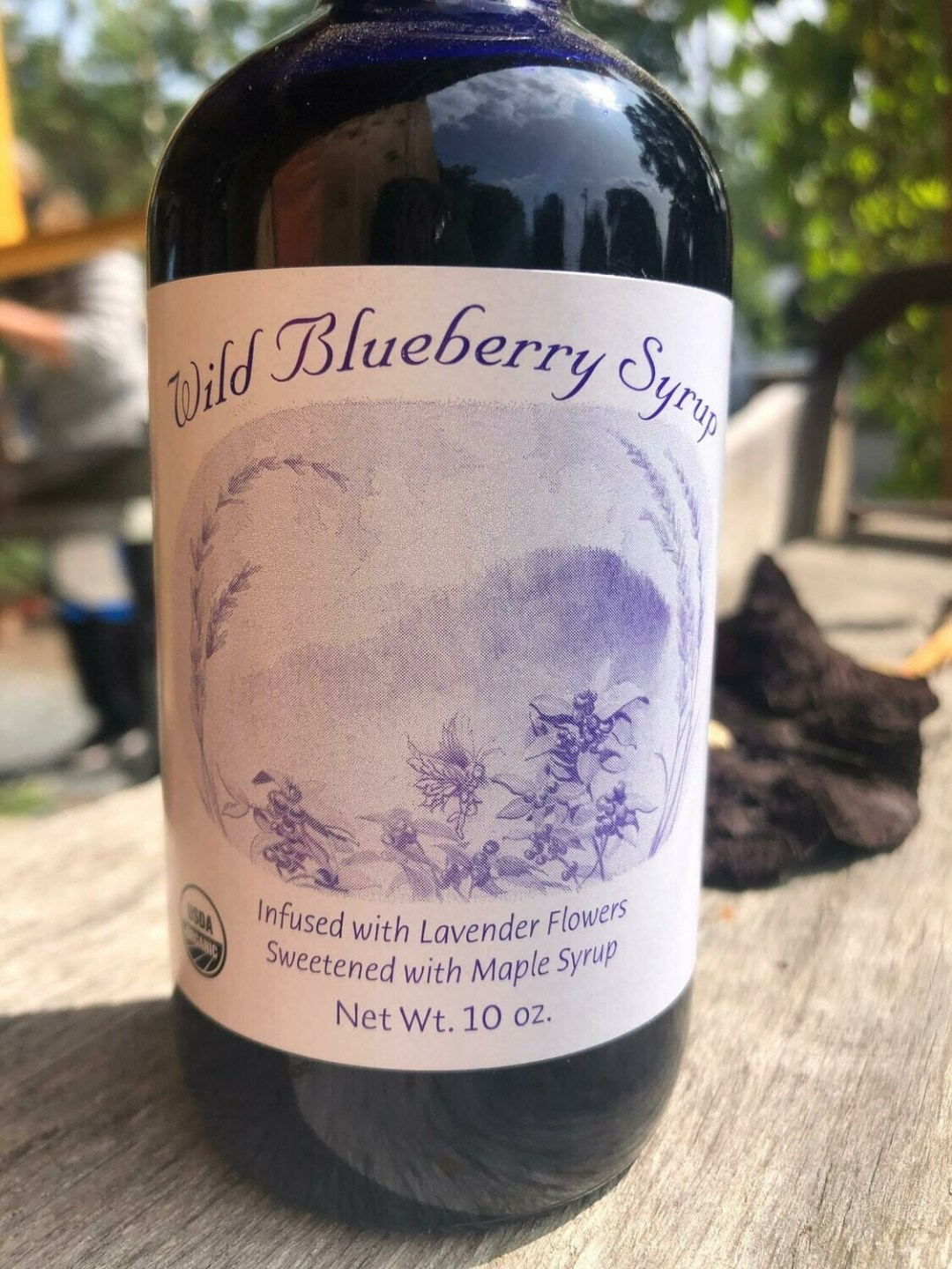Benson Place Wild Blueberry Syrup (with lavender and maple syrup) 10 oz.